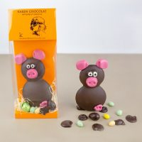 Animaux en Chocolat Noir Paques 2019 Cochon
