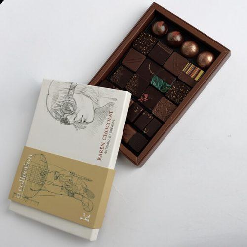 Assortiments Bonbons Chocolat Karen La Collection Boite Ouverte