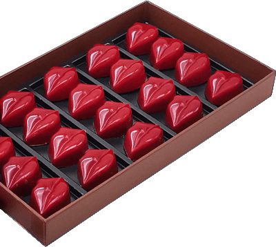 Boite Chocolat Romantique Noel Baisers Praline