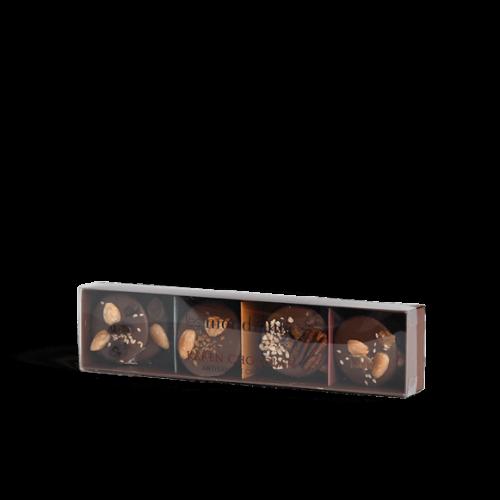 Boutique Chocolatier Karen 12 Mendiants Chocolat Noir Au Lait