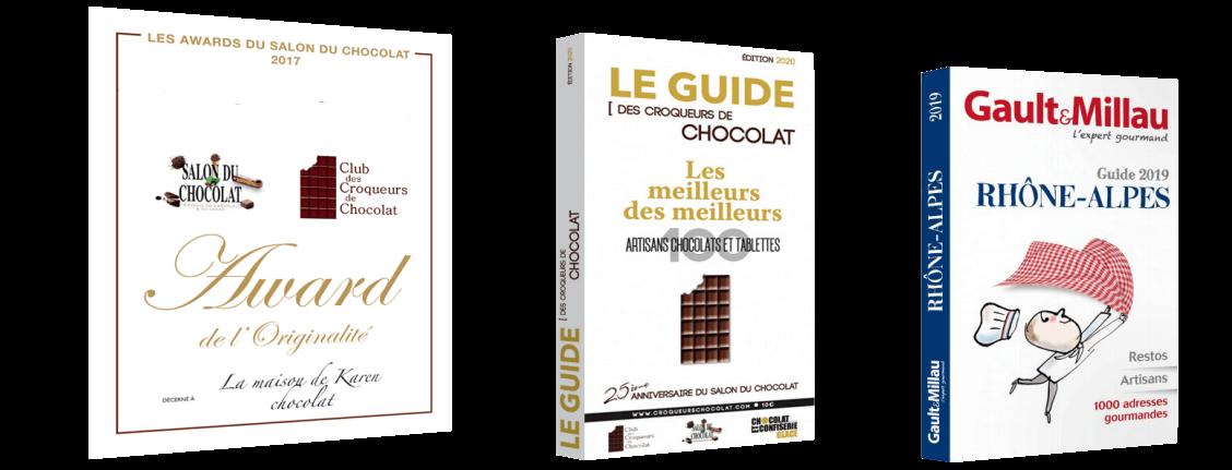 Récompenses Chocolatière Lyonnaise Authentique