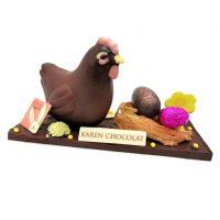 Sculpture Poule Nid Chocolat Paques