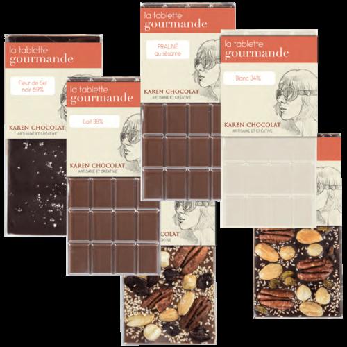 Tablettes Chocolat 6 Variétés Gourmandes
