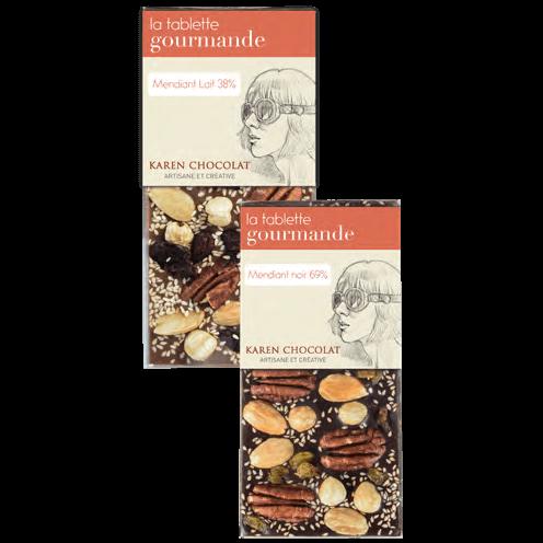 Tablettes Chocolat Mendiants Lait Noir